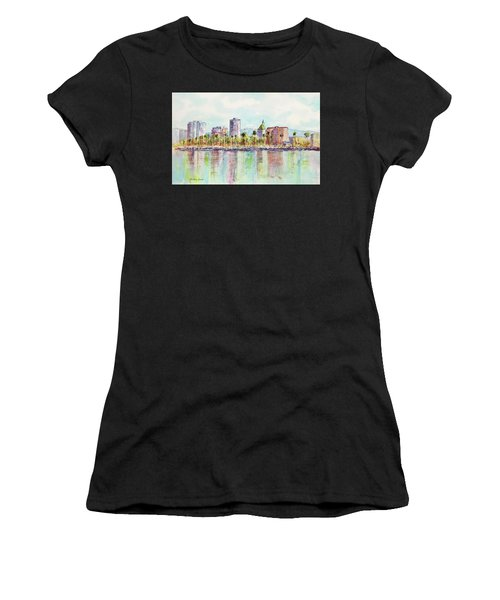 Long Beach Coastline Reflections Women's T-Shirt