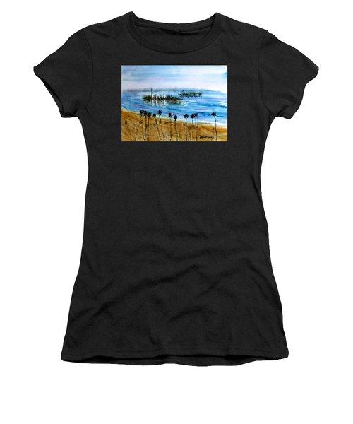 Long Beach Oil Islands Before Sunset Women's T-Shirt