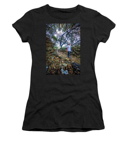 Long Exposure Peddernales Falls State Park Hike Women's T-Shirt (Junior Cut)