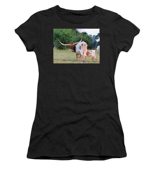 Longhorn Cattle Women's T-Shirt (Athletic Fit)