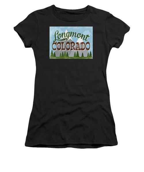 Longmont Colorado Snowy Mountains Women's T-Shirt
