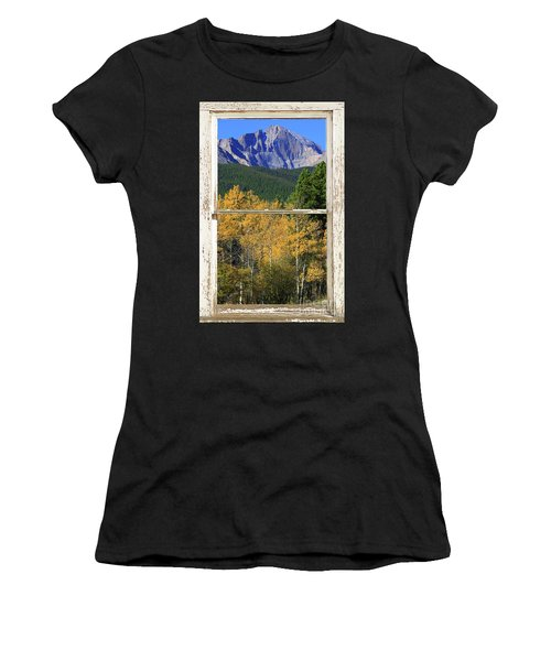 Longs Peak Window View Women's T-Shirt (Athletic Fit)
