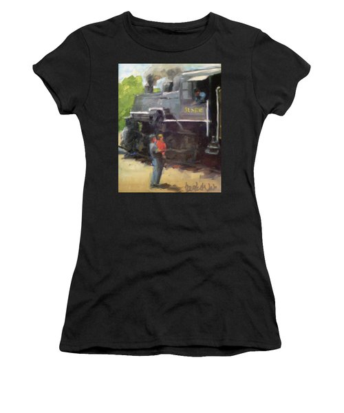 Look At The Train Women's T-Shirt (Athletic Fit)