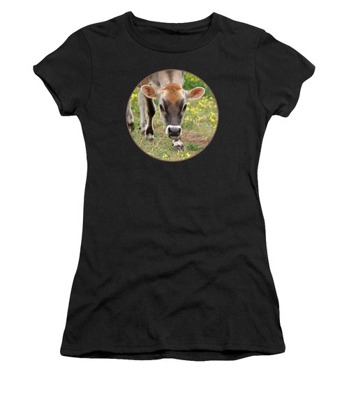 Look Into My Eyes - Jersey Cow - Square Women's T-Shirt