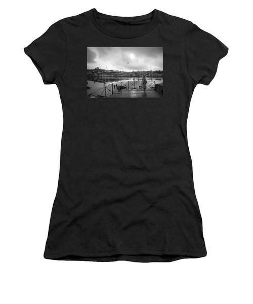 Women's T-Shirt featuring the photograph Looking And Passing By by Bruno Rosa
