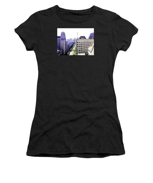 Looking Down Market Women's T-Shirt