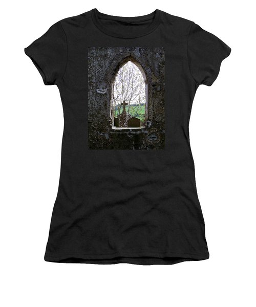 Looking Out Fuerty Church Roscommon Ireland Women's T-Shirt (Athletic Fit)