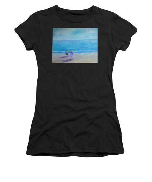 Looking Out To Sea Women's T-Shirt (Athletic Fit)