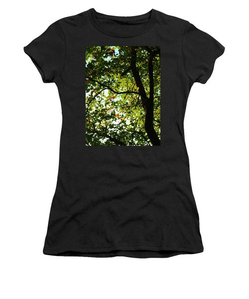 Looking Thru The Leaves Three Women's T-Shirt (Athletic Fit)