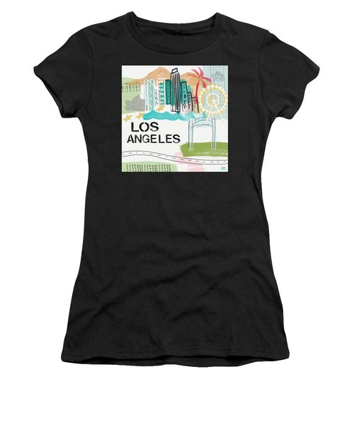 Los Angeles Cityscape- Art By Linda Woods Women's T-Shirt