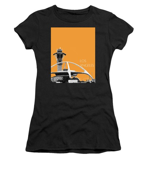 Los Angeles Skyline Lax Spider - Orange Women's T-Shirt (Athletic Fit)