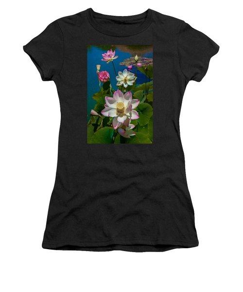 Lotus Pool Women's T-Shirt (Athletic Fit)
