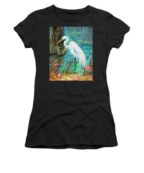 Louisiana Male Egret Women's T-Shirt (Athletic Fit)
