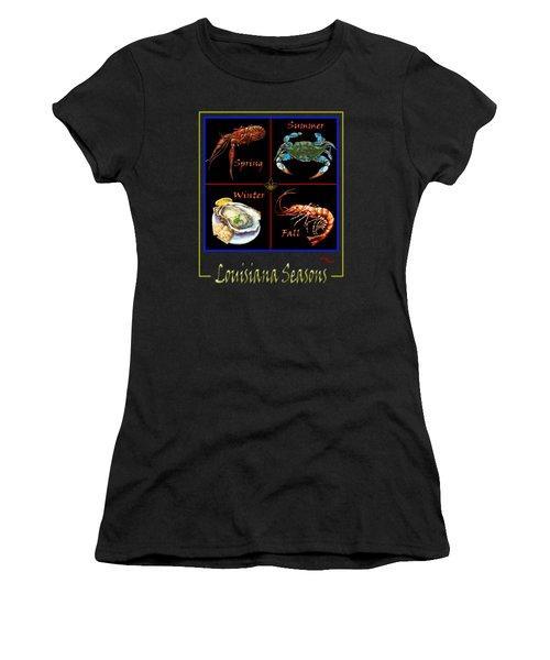 Louisiana Seasons Women's T-Shirt (Junior Cut) by Dianne Parks