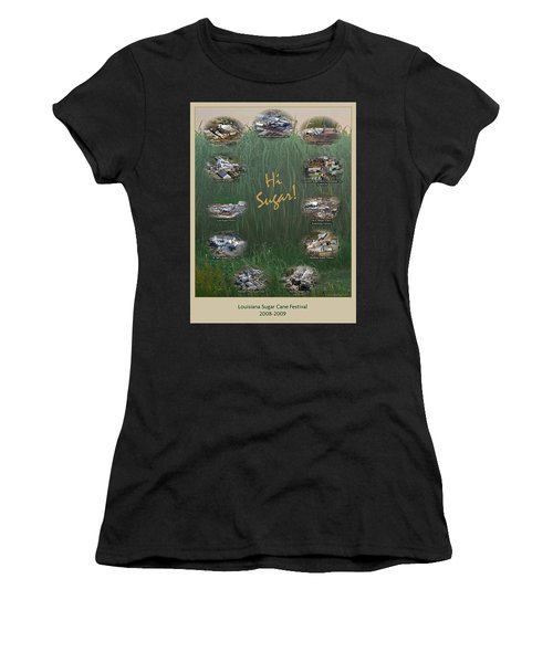 Louisiana Sugar Cane Poster 2008-2009 Women's T-Shirt (Athletic Fit)