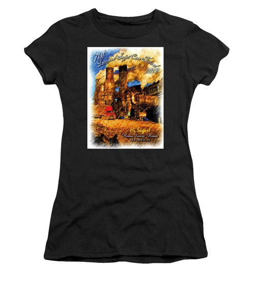 Louisiana Sugar Cane Poster 2012 Women's T-Shirt (Athletic Fit)