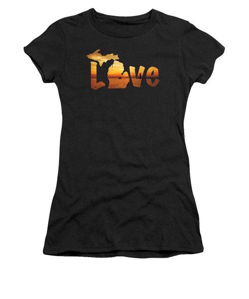 Love Lake Michigan Women's T-Shirt (Athletic Fit)