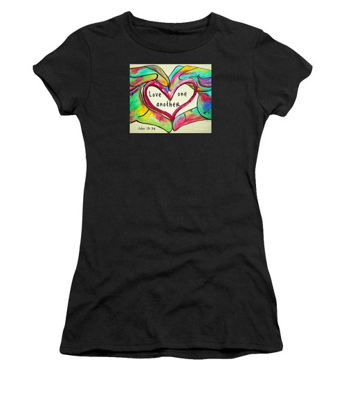 Love One Another John 13 34 Women's T-Shirt (Athletic Fit)