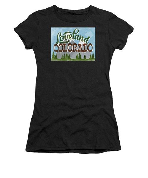 Loveland Colorado Snowy Mountains Women's T-Shirt