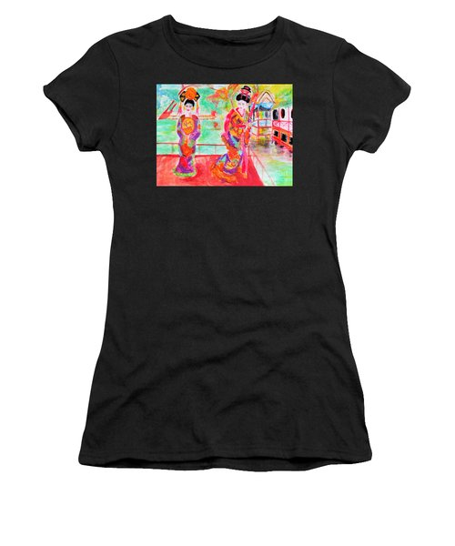 Lovely Asian Ladies Women's T-Shirt (Athletic Fit)