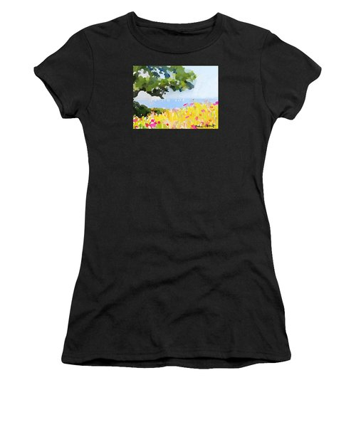 Lover's Lane, Rockport, Ma Women's T-Shirt (Athletic Fit)