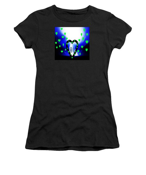 Women's T-Shirt (Junior Cut) featuring the photograph Loving The Seattle Seahawks by Eddie Eastwood