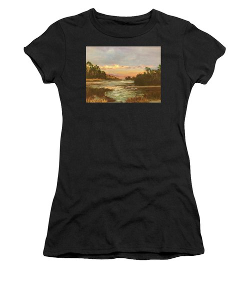 Low Country Sunset Women's T-Shirt (Athletic Fit)