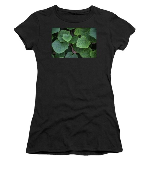 Low Key Green Vines Women's T-Shirt (Athletic Fit)
