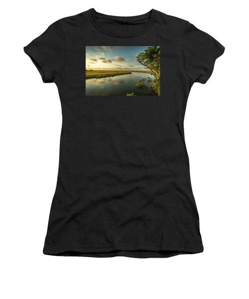 Pitt Street Bridge Creek Sunrise Women's T-Shirt (Athletic Fit)