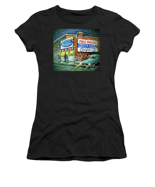 Lower Brigham's Women's T-Shirt (Junior Cut) by Rita Brown