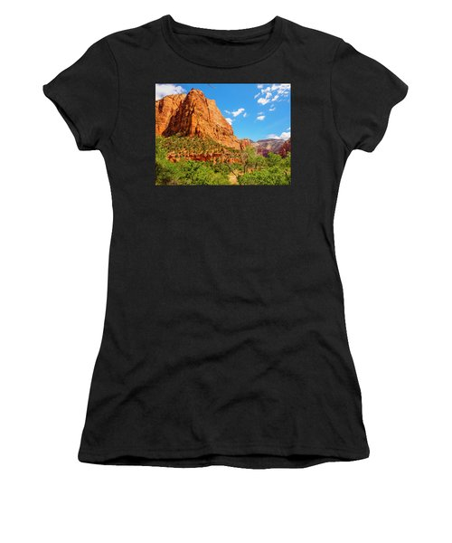 Women's T-Shirt featuring the photograph Lower Emerald Pool Trail - Zion National Park by Penny Lisowski