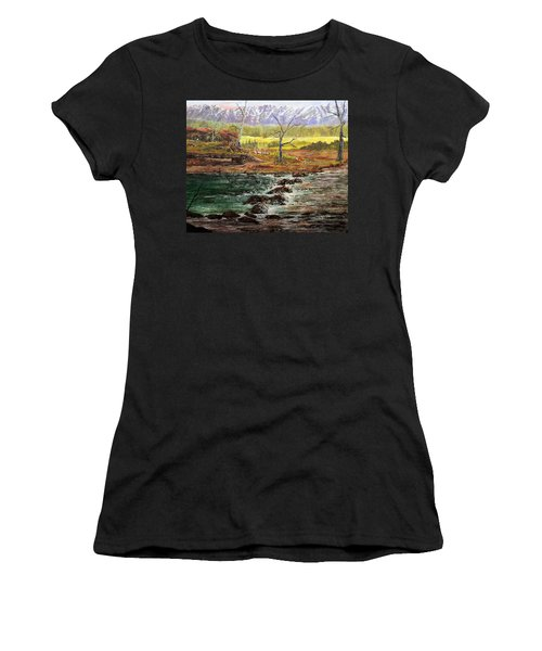 Lowwater Crossing  Women's T-Shirt (Athletic Fit)