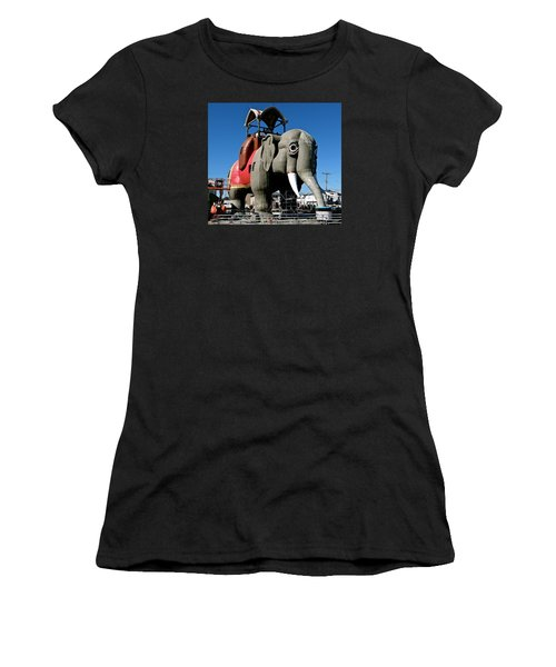 Lucy The Elephant Women's T-Shirt (Junior Cut) by Ira Shander
