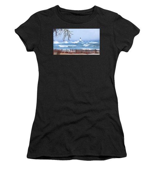Ludington Winter Shore  Women's T-Shirt
