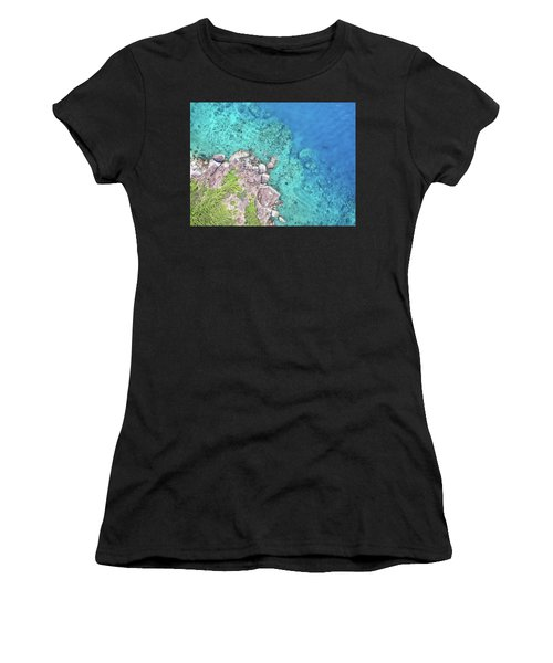 Women's T-Shirt (Athletic Fit) featuring the photograph Luncheon Bay, Hook Island by Keiran Lusk