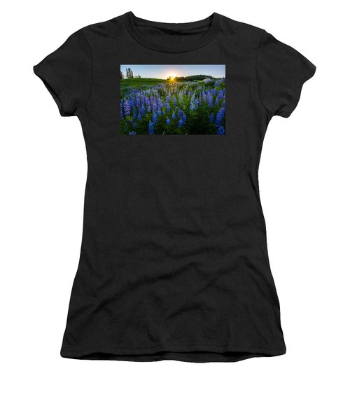 Lupine Meadow Women's T-Shirt (Athletic Fit)