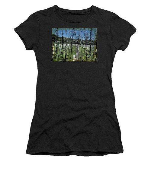 Luxembourg Wwii Memorial Cemetery Women's T-Shirt (Junior Cut) by Joseph Hendrix