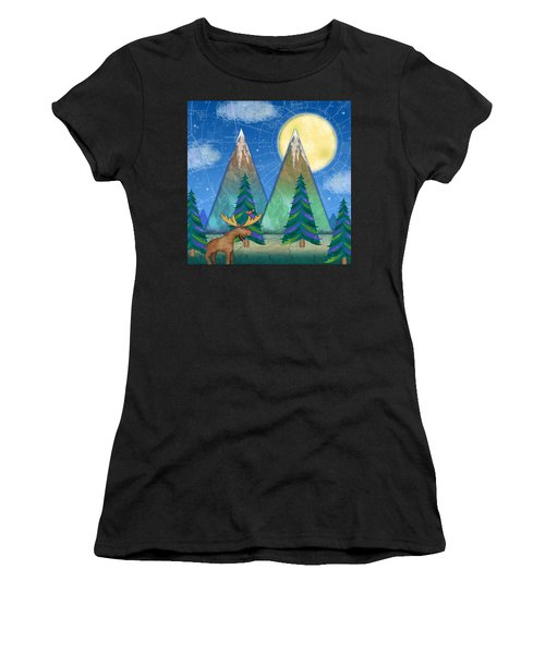 M Is For Mountains And Moon Women's T-Shirt