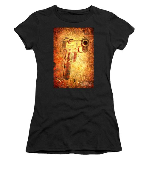 M1911 Muzzle On Rusted Background 3/4 View Women's T-Shirt