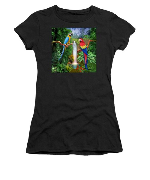 Macaw Tropical Parrots Women's T-Shirt (Athletic Fit)