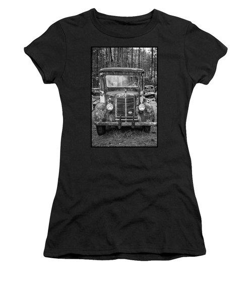 Mack Truck In A Junkyard Women's T-Shirt