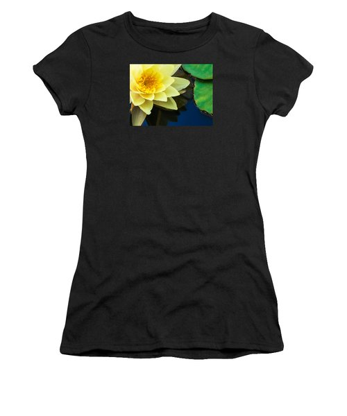 Macro Image Of Yellow Water Lilly Women's T-Shirt (Athletic Fit)