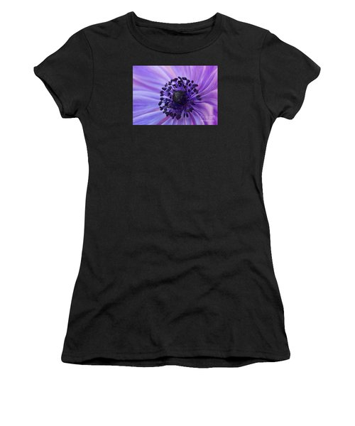 Macro Of Lavender Purple Anemone Women's T-Shirt (Athletic Fit)