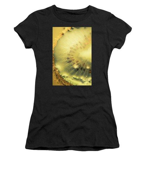 Macro Shot Of Submerged Kiwi Fruit Women's T-Shirt (Athletic Fit)