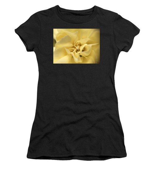 Women's T-Shirt featuring the photograph Macro Yellow Rose by Marian Palucci-Lonzetta