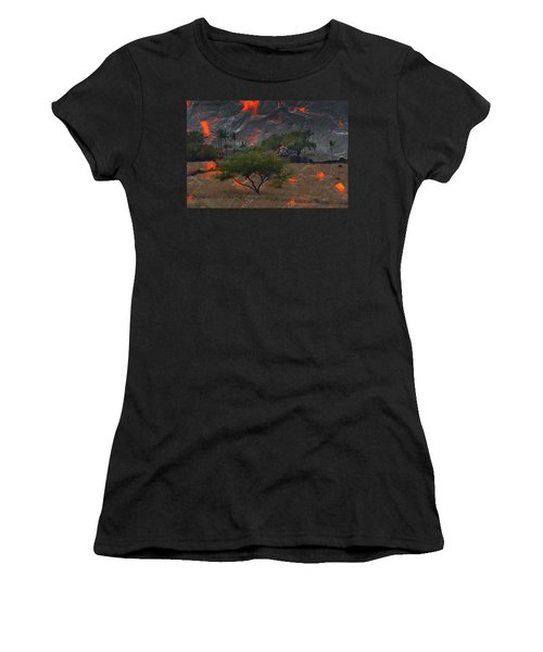 Madam Pele Approaches Women's T-Shirt (Junior Cut) by Lori Seaman