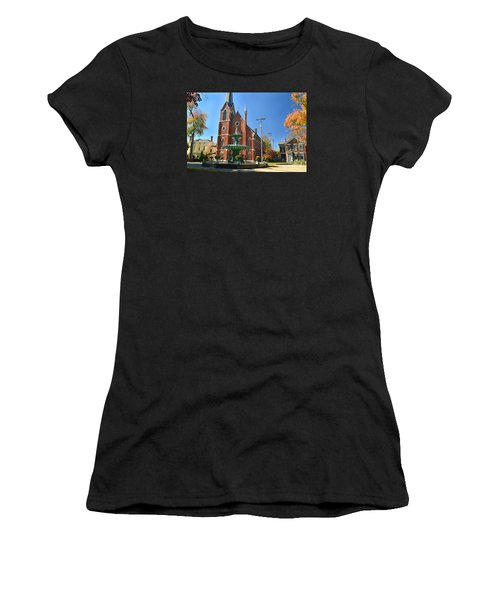 Madison Church And Water Fountain Women's T-Shirt (Athletic Fit)