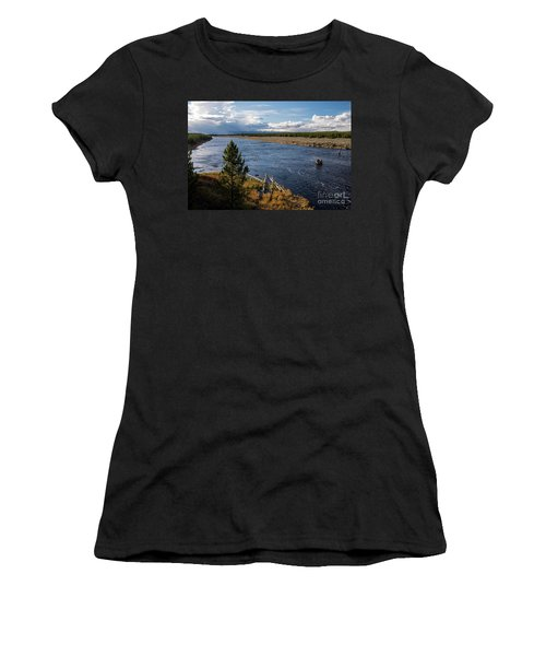 Madison River In Yellowstone National Park Women's T-Shirt (Athletic Fit)