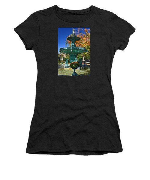 Madison Water Fountain In Fall Women's T-Shirt (Athletic Fit)