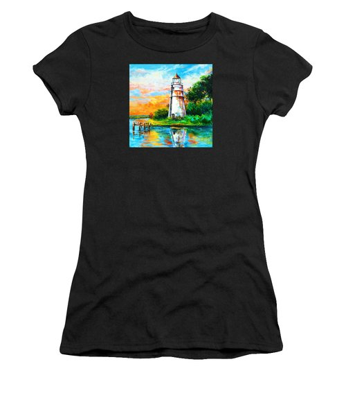Women's T-Shirt (Junior Cut) featuring the painting Madisonville Sunset by Dianne Parks